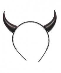 Черные рога Дьявола на ободке