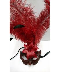 Карнавальная маска Macrame красная