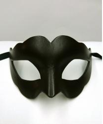 Женская карнавальная маска из кожи, коричневая