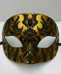 Венецианская маска с узором Ар нуво, темное золото