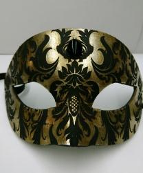 Венецианская маска с узором Ар нуво, золото