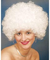 Белый кудрявый парик