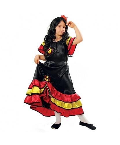 Детский костюм испанки: платье (Польша)