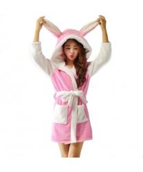 Халат розового Стича: халат с капюшоном, пояс (Китай)