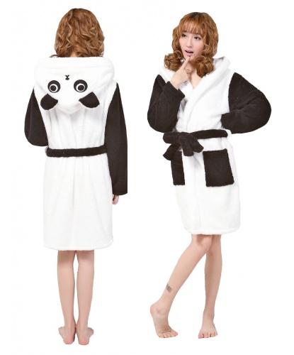 Халат панды: халат с капюшоном, пояс (Китай)