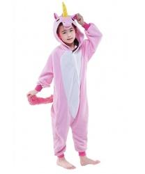 Детский кигуруми розового единорога