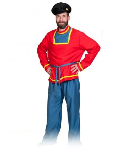 Костюм Иванушки: рубаха, брюки, пояс, кепка (Россия)