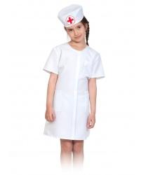Костюм Медсестра: халат с поясом, шапочка, стетоскоп (Россия)
