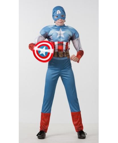 Детский костюм Капитан Америка. Мстители: комбинезона, маски и щита