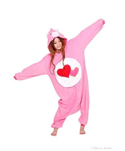Кигуруми розового заботливого мишки: комбинезон с капюшоном (Китай)