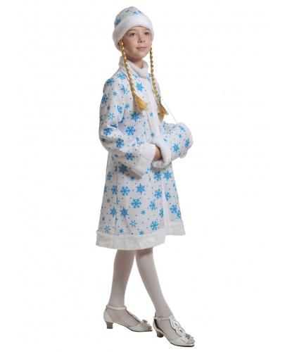 Костюм Снегурочки: шубка, шапка с косами, муфта (Россия)
