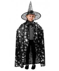 Детская черная накидка на Хэллоуин