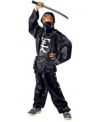 """Детский костюм """"Черный ниндзя"""", атлас"""