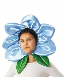 """Шапка """"Цветочек"""" голубая"""