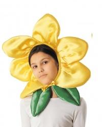"""Шапка """"Цветочек"""" желтая"""