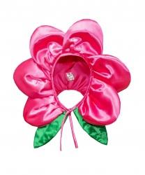"""Шапка """"Цветочек"""" розовая"""