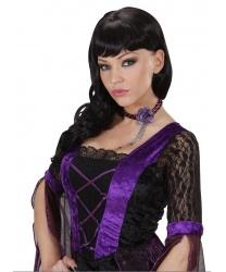 Ожерелье в готическом стиле (фиолетовое)