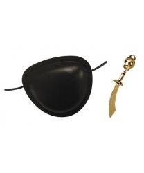 Пиратский набор (наглазник, серьга-сабля)