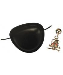 Пиратский набор (наглазник, серьга-череп)