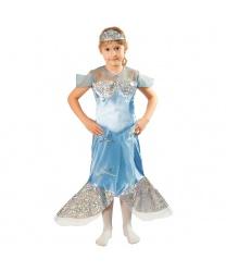 Голубой костюм русалочки: платье, головной убор (Польша)