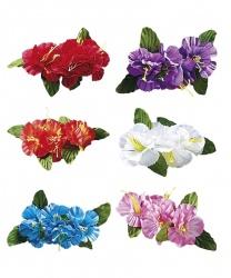 Гавайский цветок на заколке (голубой)