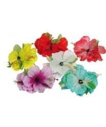 Гавайское украшение на заколке (розовое)
