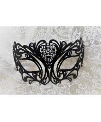 Венецианская черная бархатная маска Maschile