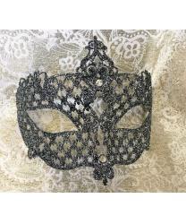 Венецианская серебряная маска Brillina Grande