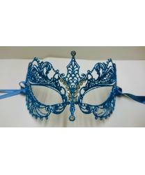 Блестящая маска EIFEL голубая
