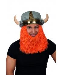 Шапка викинга с бородой
