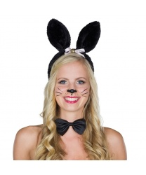 Черные ушки кролика с бубенчиком