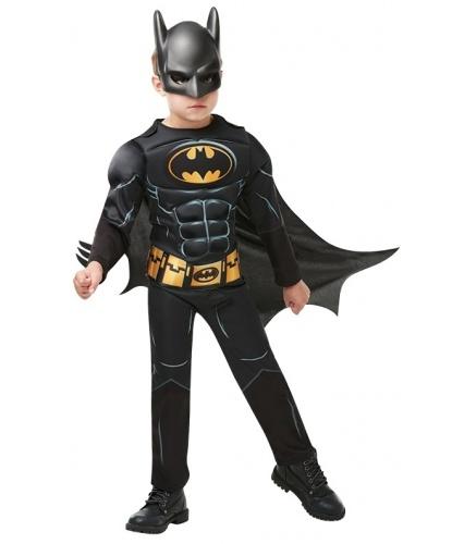 Детский костюм Бэтмен черный: комбинезон, маска, накидка (Германия)