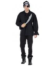 Черная пиратская рубаха