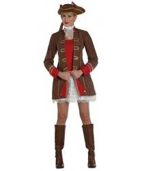 Женский коричневый пиратский костюм