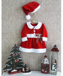 """Новогоднее платье для малышей """"Маленькая Санта"""""""
