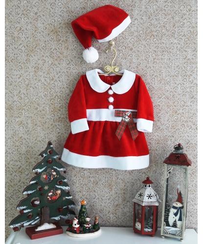 Новогоднее платье для малышей Маленькая Санта