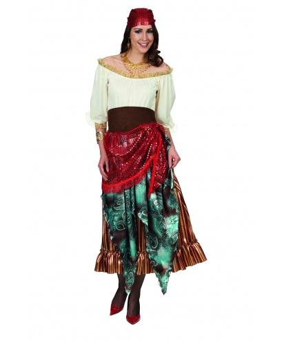 Взрослый костюм Цыганка: платье, косынка, пояс (Германия)