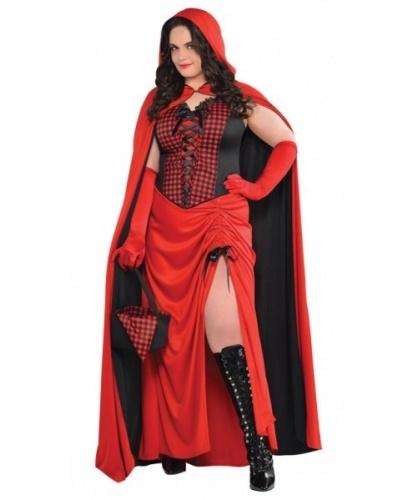Женский костюм Красная шапочка: платье, плащ, корзинка, платок (Германия)