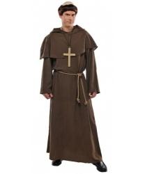 Мужской костюм Средневековый монах: балахон, наминка, парик, пояс (Германия)