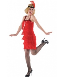 Красное платье в стиле 20-30 годов