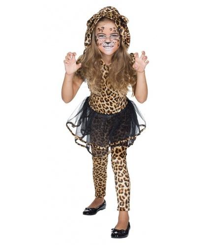 Костюм Леопард для девочки: платье с капюшоном, леггинсы (Германия)