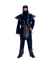 Черный мужской костюм воина-ниндзя