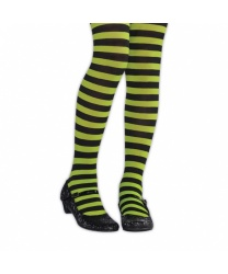 Детские колготки с черно-зеленую полоску
