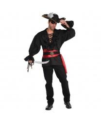 Черная пиратская рубашка