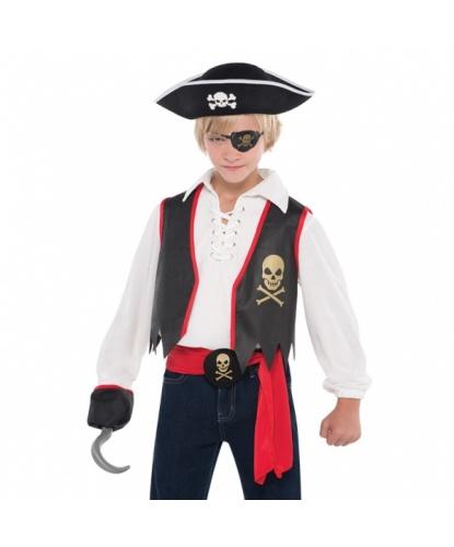 Детский набор пирата: жилетка, наглазник, пояс, (Германия)