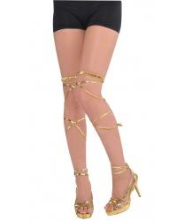 Золотые завязки греческих сандалей