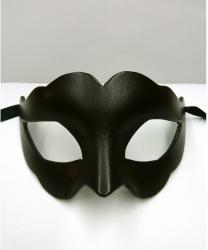 Женская карнавальная маска из кожи, черная,папье-маше, кожа (Италия)