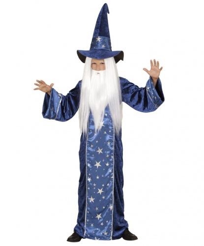 Детский костюм звездного волшебника: балахон, колпак (Италия)