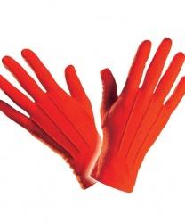 Короткие, красные перчатки