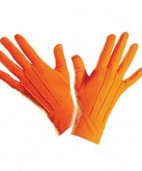 Короткие, оранжевые перчатки